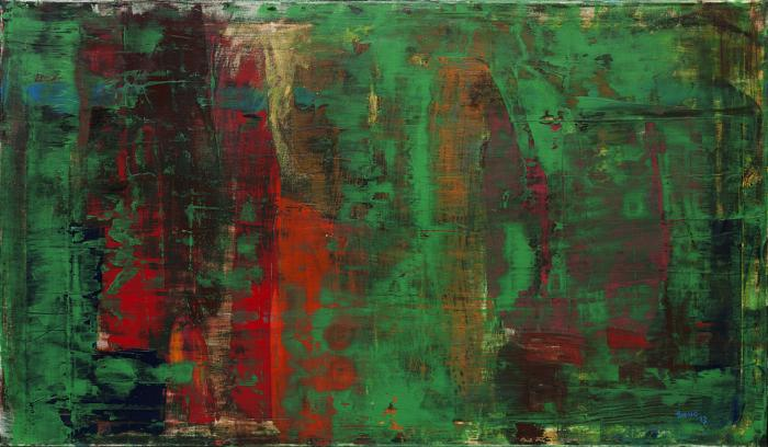 Acrylic on Canvas 'Green World' by Thomas Lamic