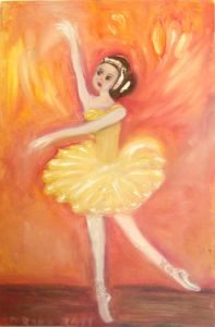 Oil painting for sale 'Balerina' by Dobrijevic Radojka – Original Oil paintings art gallery