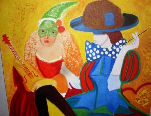 Oil on Canvas 'Karneval' by AnaArt