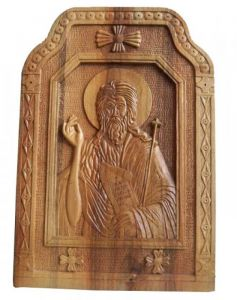 Handicraft on Wood 'Saint John II' by Labus Slobodan