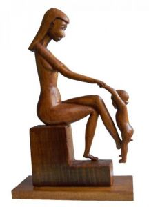 Sculpture on Other 'Mother with baby playing, fig 1.' by Labus Slobodan
