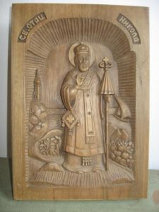 Handicraft on Wood 'Sv. Nikola' by Milišić Milan