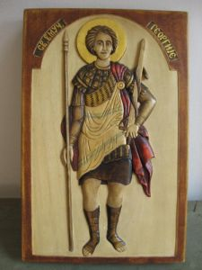 Handicraft on Wood 'Sv.Velikomučenik George Đurđic' by Milišić Milan