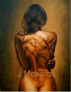 Oil on Canvas 'Back 2' by Mesaros Jozi