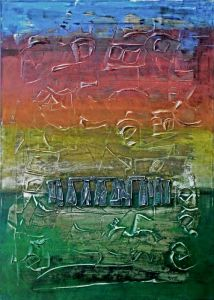 Acrylic on Canvas 'Stonehenge Mystery' by Thomas Lamic