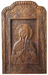 Handicraft on Wood 'St. Petka - Icon' by Labus Slobodan