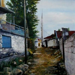 Oil painting for sale 'Kukaljane Mosk' by Kamberović Udait – Original Oil paintings art gallery