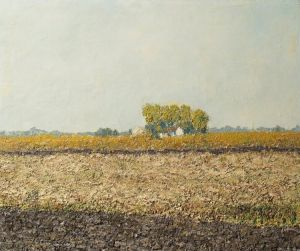 Oil on Canvas 'Plain' by Djuragic Giga Dile