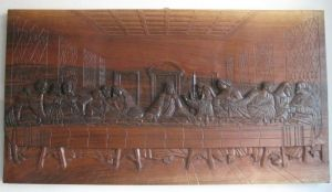 Handicraft on Wood 'Last Supper 2013' by Labus Slobodan