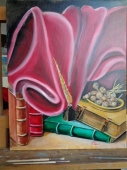 Oil on Canvas 'Old book' by Stevic Slobodan