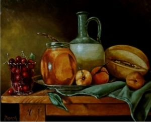 Oil on Canvas 'Sweet is the best' by Mesaros Jozi