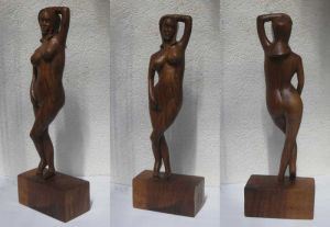 Sculpture on Wood 'Venera' by Labus Slobodan