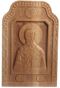 Handicraft on Wood 'St Nikolas' by Labus Slobodan