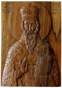Handicraft on Wood 'St Vasilije from Ostrog' by Labus Slobodan
