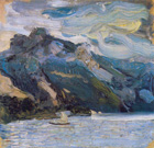 Lake Traunsee with mountains - Šifra: Richard Gerstl - RG2
