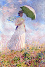 Woman with Umbrella Facing Right - Šifra: Claude Monet - CM17