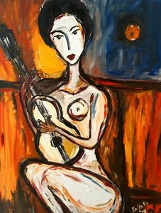 `Guitare on the moonlight`