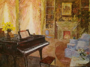 `Interior with piano`