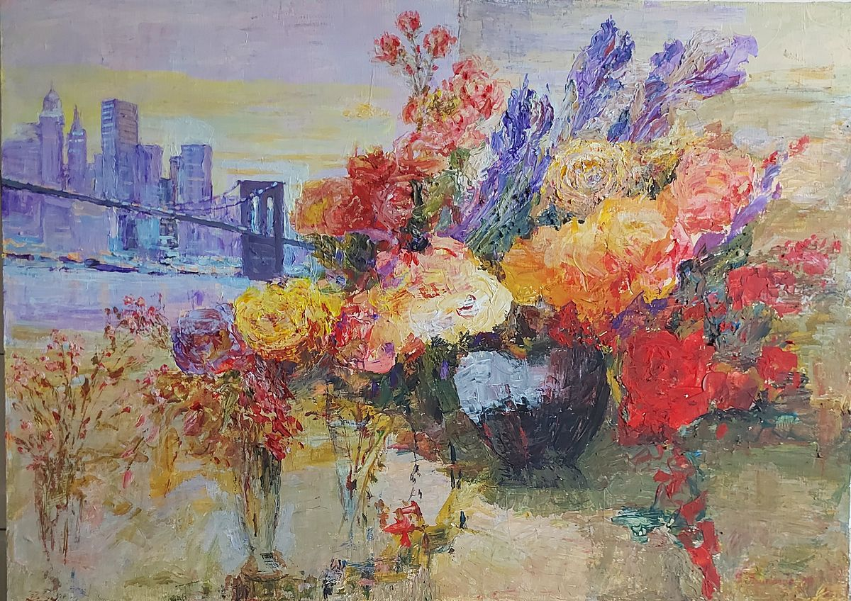 `New York and flowers`