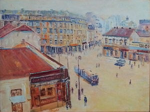 `Square, view of the Kolarceva street` 1930