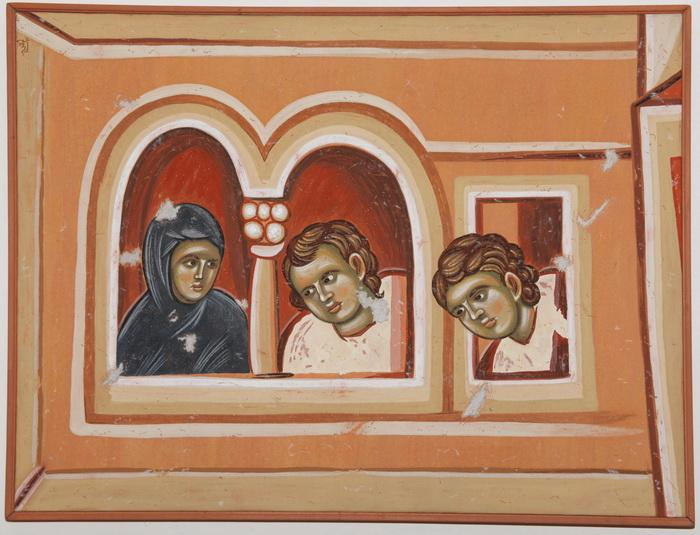 Staro Nagoricino, Witnesses on the windows, copy of fresco