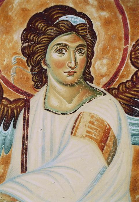 Serbia, Monastery Mileseva, White Angel, detail, copy of the fresco