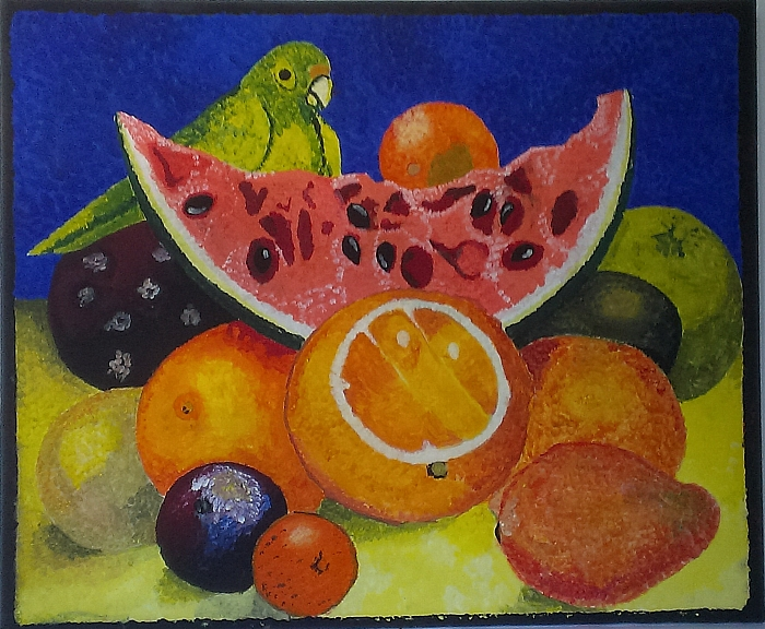 Still Life with Parrot and Fruit