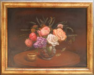 A Vase with Roses