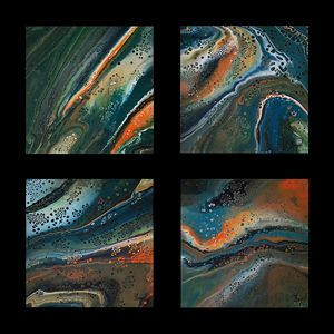 Abstraction - Metamorphosis 080 - 083 FC - 4 x ( 30cm x 30cm )