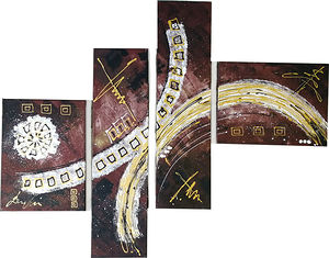 Abstraction 4 canvases
