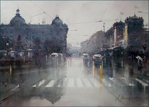 After rain on the square