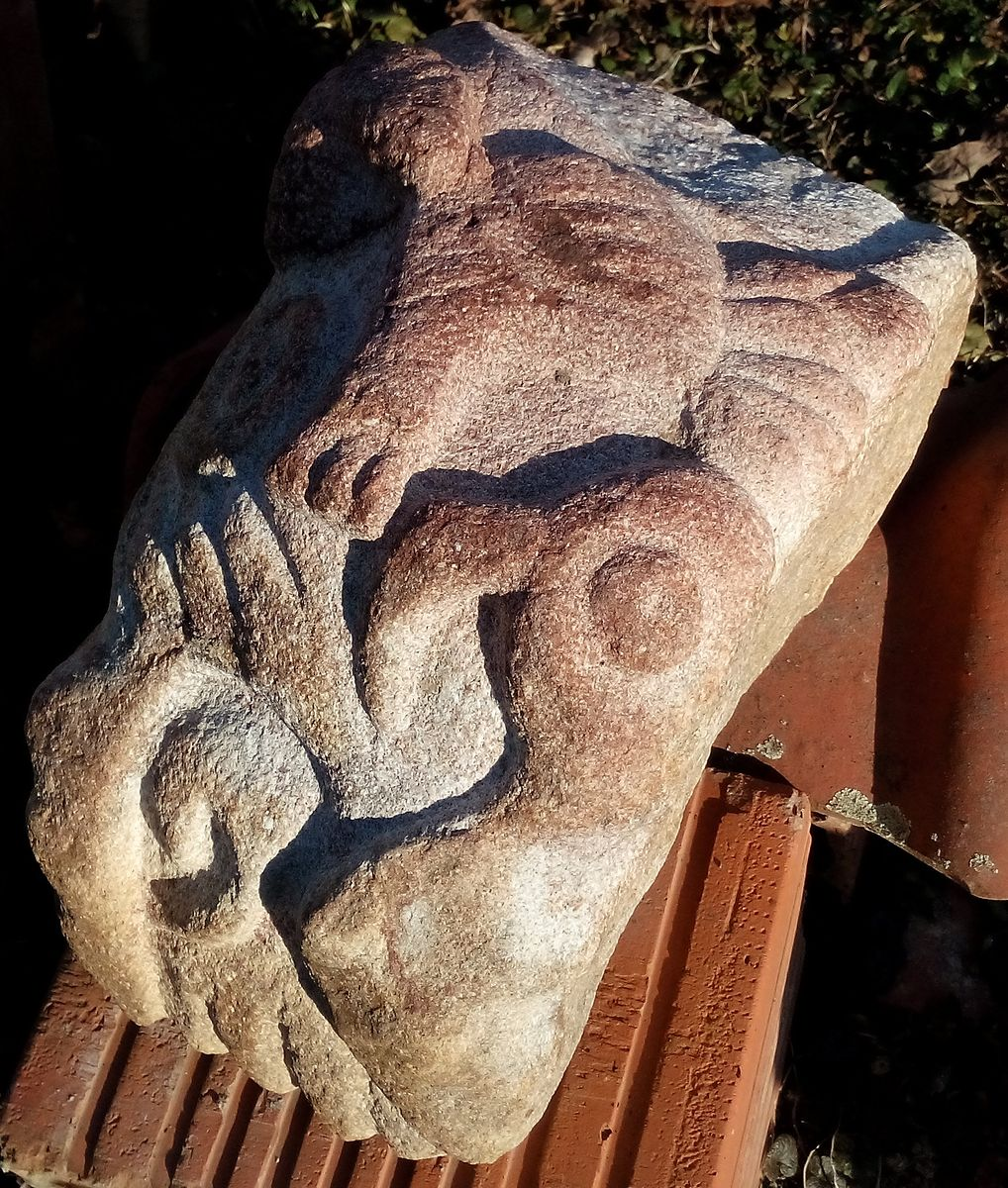 An unusual stone with relief
