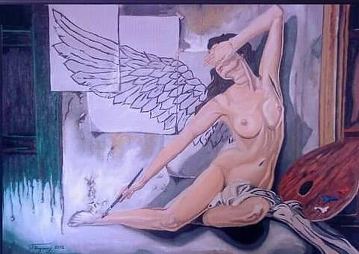 angel from the wall
