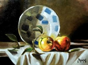 Apple and plate