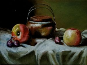 Apples with red onions