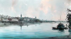 Belgrade frm the river