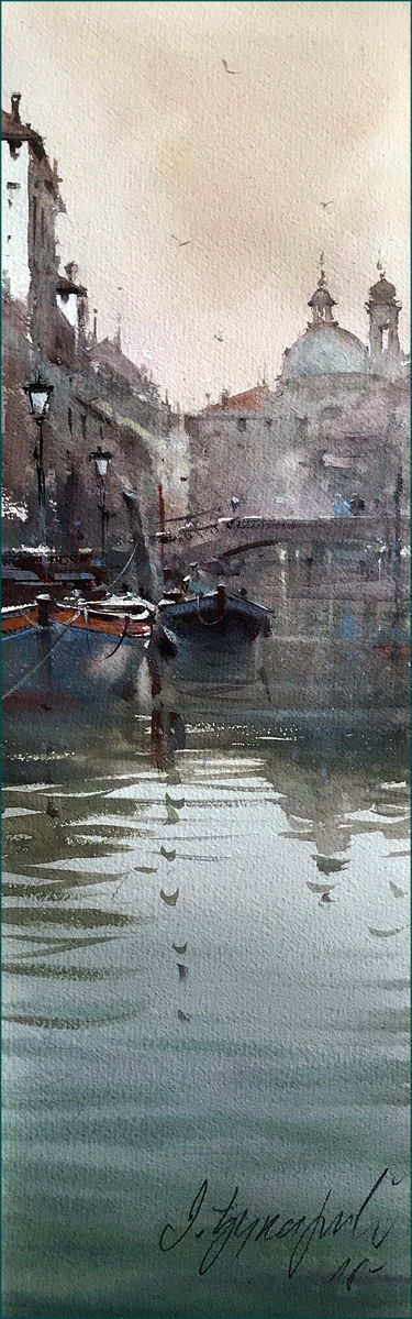 Boats in canal, Veneice