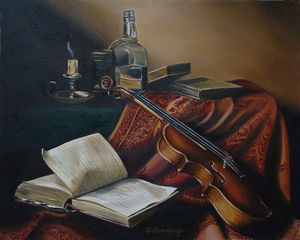 Book and violin