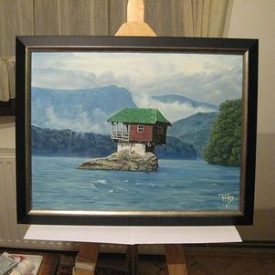Cabin in Drina river