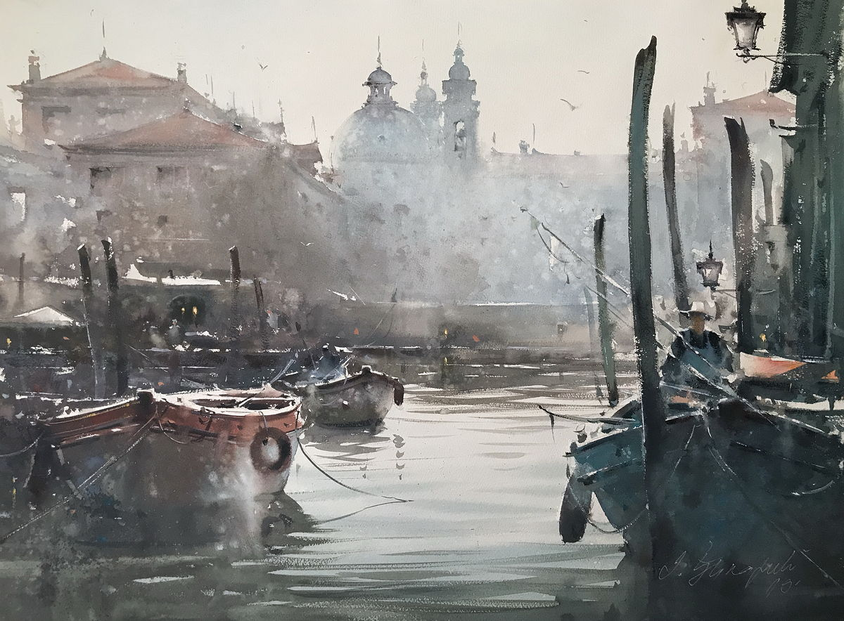 Canal in Venice morning