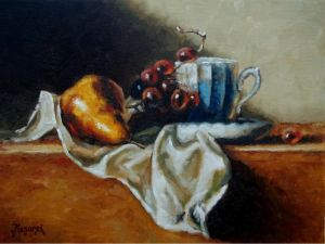 Coffe cup and Fruit