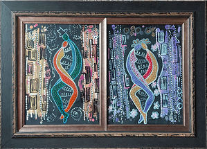 DNA Couple - Diptych
