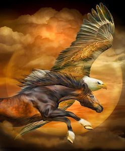 Eagle and Horse Oil on canvas