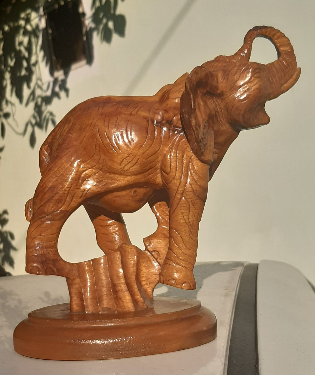 Elephant | carved figure of an elephant made of wood