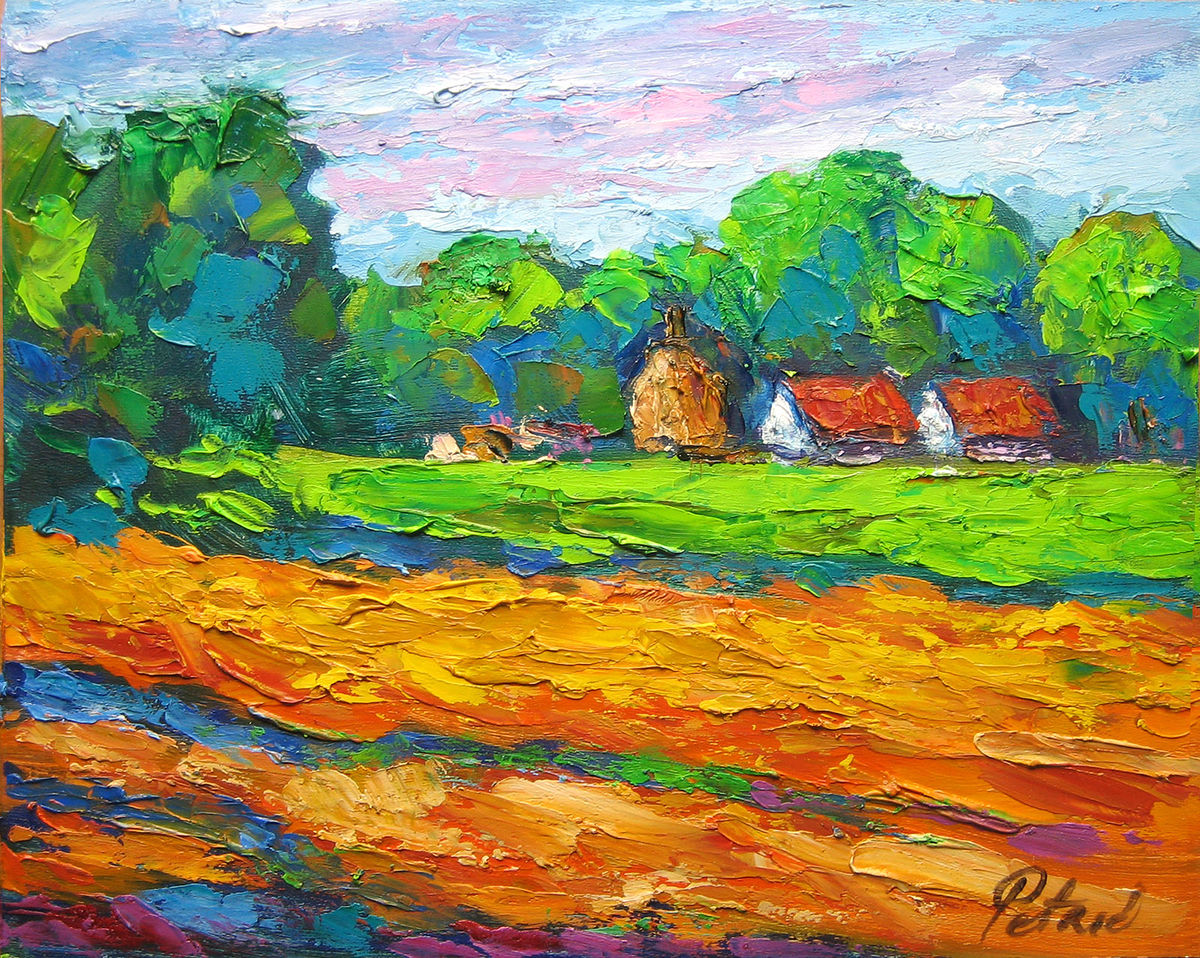 Farm in the distance