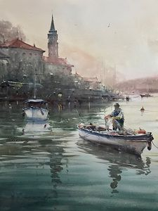 Fisherman in Perast
