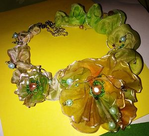 Floral silk necklace