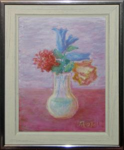 Flowers in Pear Shaped Vase