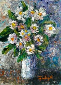 Flowers in the blue vase 2