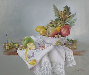 Fruits- oil on canvas 50x60cm